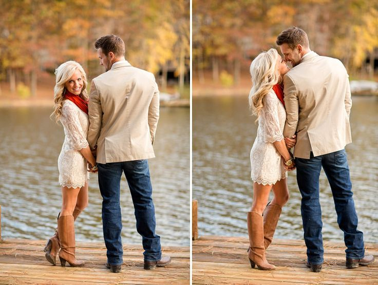 Love this dress for engagement shoot! And with cowboy boots of course! This is the perfect outfit for both!