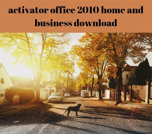 activator office 2010 #home and business
