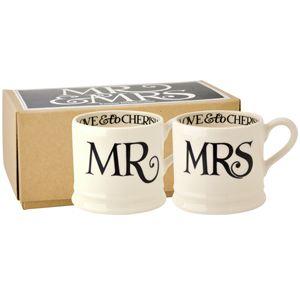 Black Toast Mr & Mrs Set of 2 Baby Mugs Boxed
