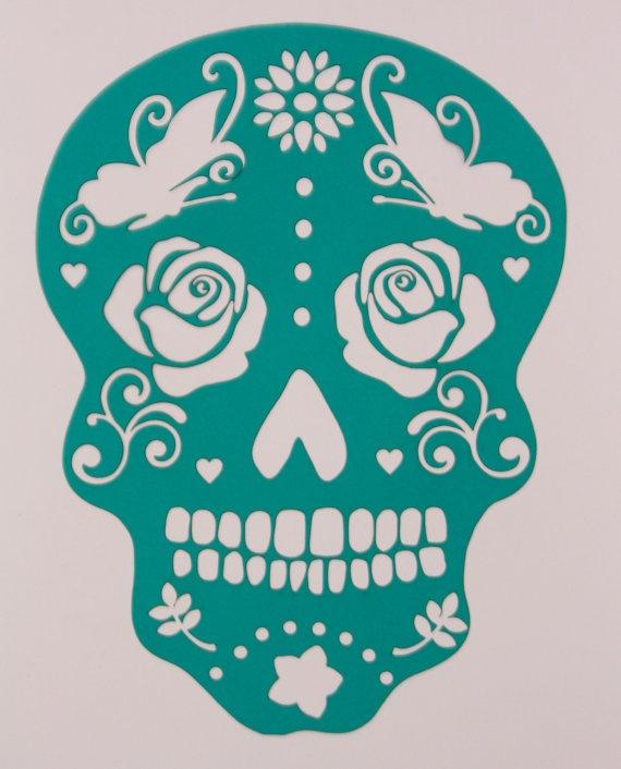 Best 25+ Sugar skull stencil ideas on Pinterest   Sugar ...
