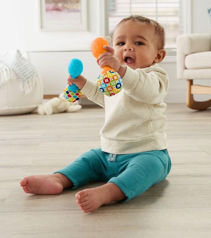 Fisher-Price Rattle 'n Rock Maracas Fisherprice Musical Toy Toddler Soft Baby  #FisherPrice