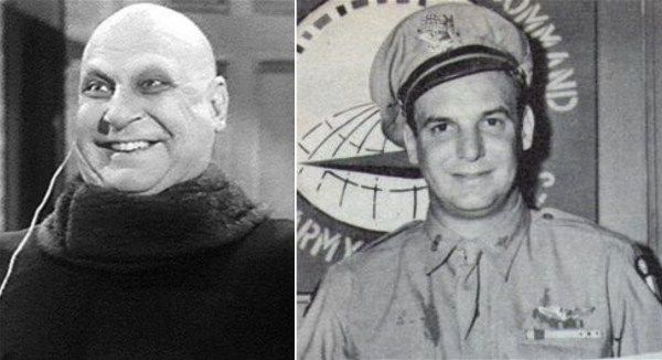 Jackie Coogan, already famous as a child star in the '20s, enlisted in the US Army in march 1941. After Pearl Harbour, he requested a transfer to the US Army Air Forces as a glider pilot. After graduating from glider school, he volunteered for hazardous duty with the 1st Air Commando Group, and was sent to India in december 1943 to support the Burma campaign. In march 1944 he flew British troops, the Chindits, at night into a small jungle clearing 100 miles behind Japanese lines.