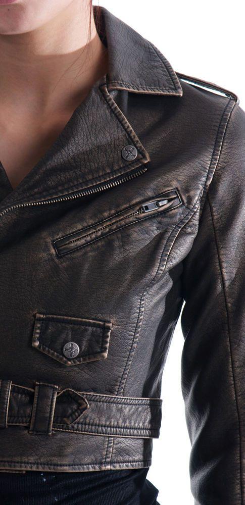 LIP SERVICE MOTO motorcycle BIKER STEAMPUNK PUNK GOTHIC FAUX LEATHER JACKET COAT | Clothing, Shoes & Accessories, Women's Clothing, Coats & Jackets | eBay!