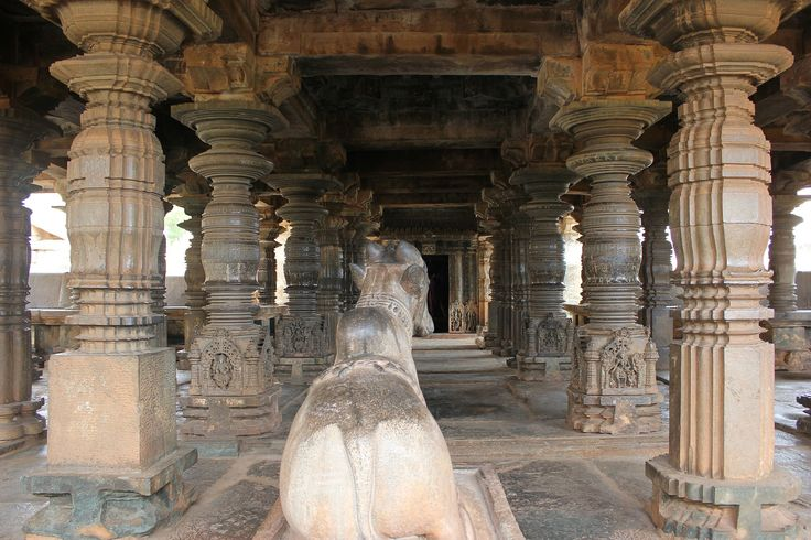 Open mantapa (hall) in Kalleshvara temple at Bagali 1 - Western Chalukya architecture - Wikipedia