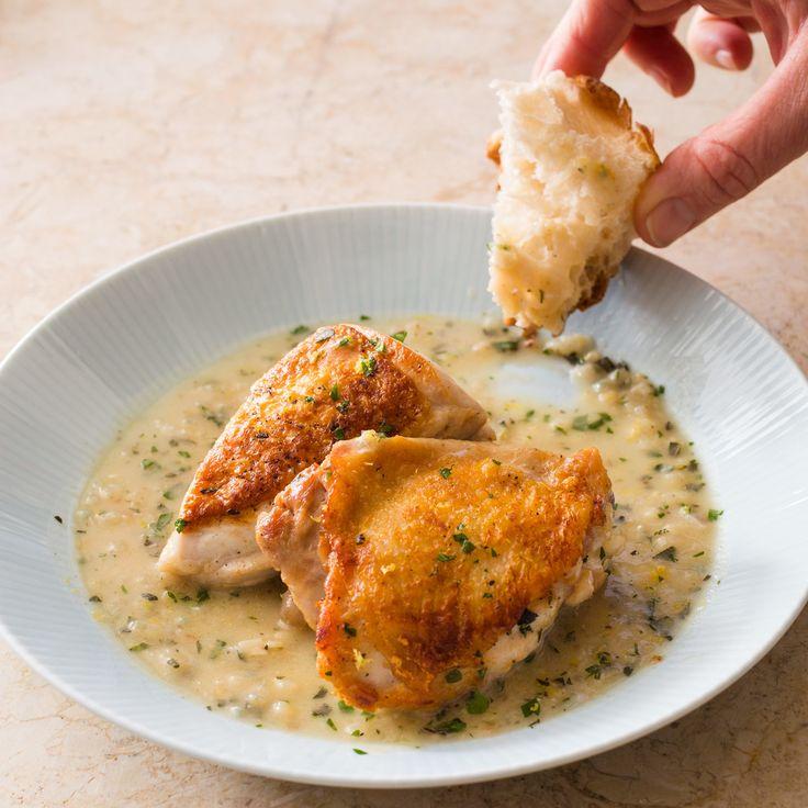 Skillet Roasted Lemon Chicken  ATK