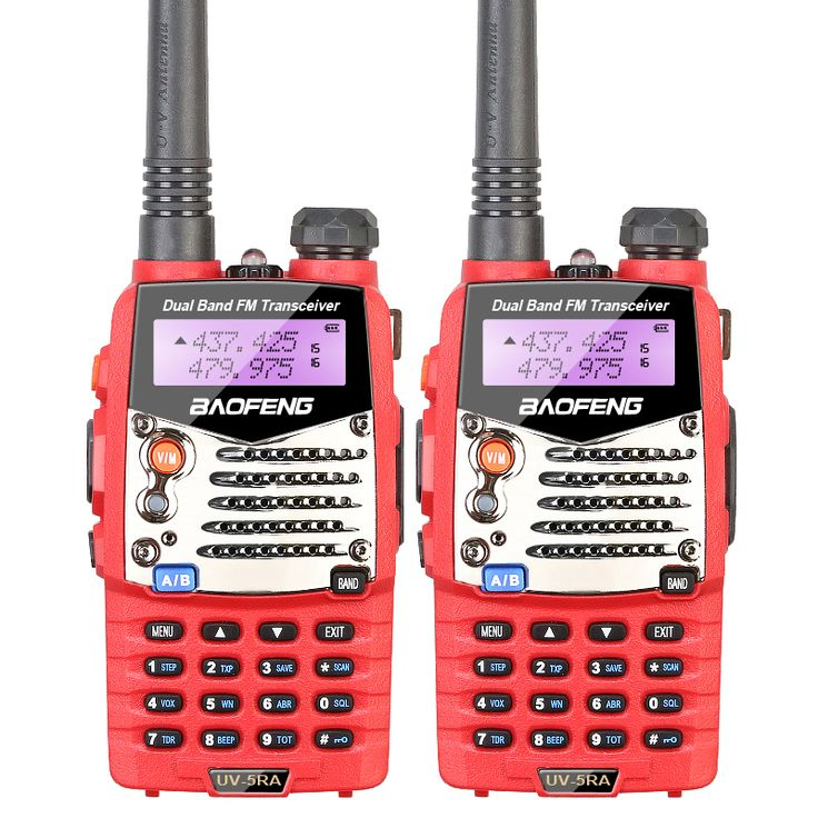 2PCS/LOT Baofeng Red UV-5RA For Police Walkie Talkies Scanner Radio Vhf Uhf Dual Band  Ham Radio Transceiver  #Affiliate