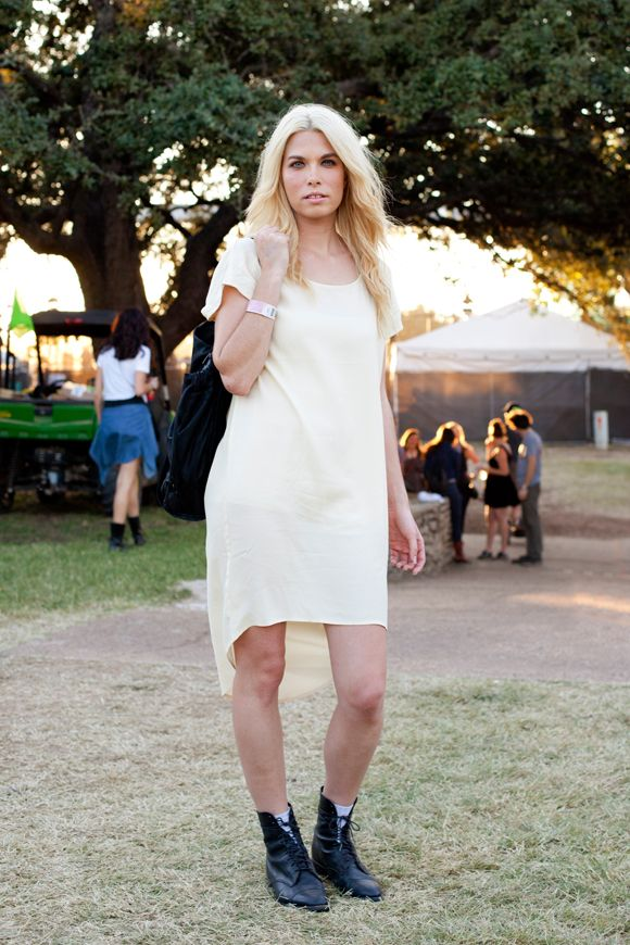 7 - Street Style Photos From Austin's Fun Fun Fun Fest! We love that Laura kept her outfit simple. (Free People)