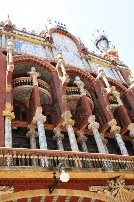 Barcellona famoso Palau de la Música Catalana