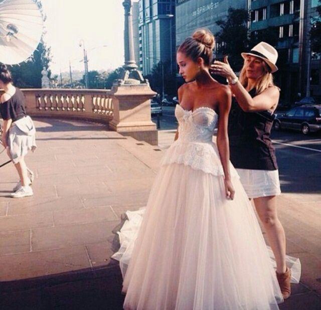 """Photoshoot today!"" I smile ""Mac look at my dress!!"" I giggle -Ariana"