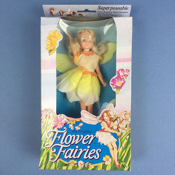 Vintage Hornby Flower Fairies 1983 Narcissus Fairy Cicely Mary Barker 80s  faerie dolls yellow costume dress wings…   Flower fairies, Fairy dolls,  Cicely mary barker
