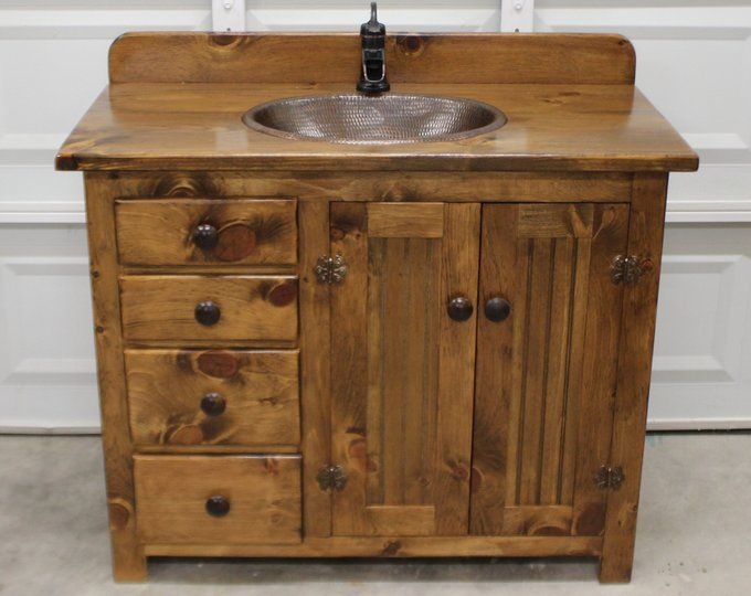 Bathroom Vanity 36 Rustic Farmhouse Bathroom Vanity Etsy Rustic Bathroom Vanities Rustic Bathrooms Bathroom Vanity