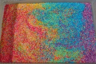 Rainbow rice - cool kid craft!