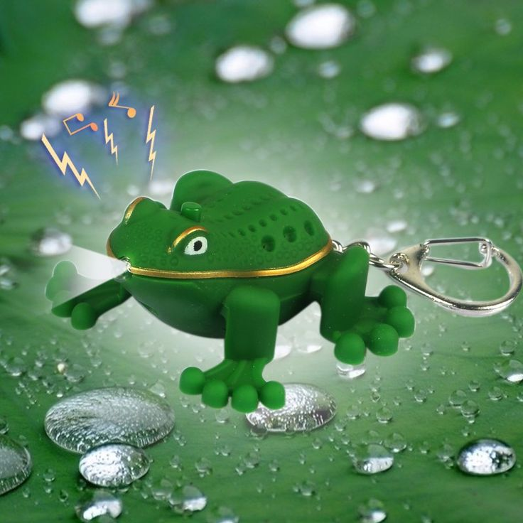 The green tree frog led voice sound light keychain portable small pendant small gifts for children wholesale  #Affiliate