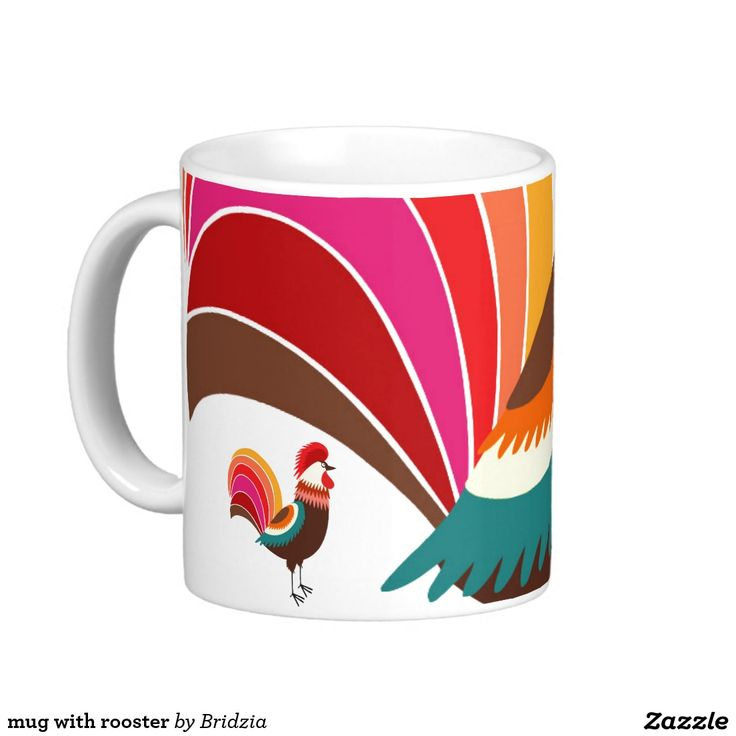 mug with rooster