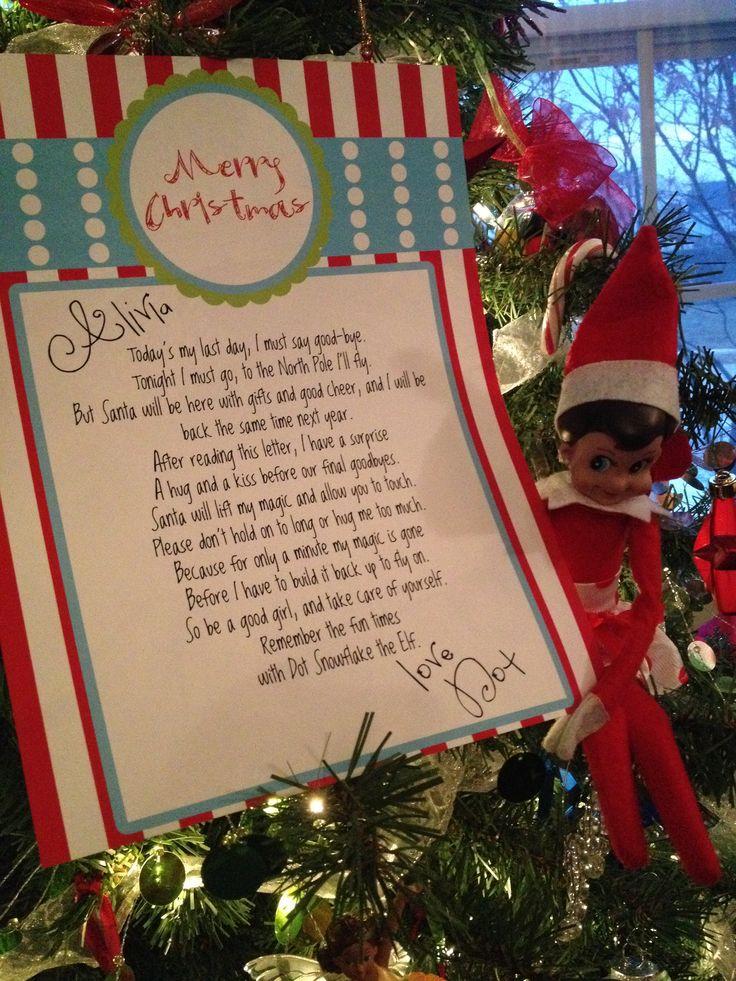 Best 25+ Elf goodbye letter ideas on Pinterest Goodbye letter - goodbye note