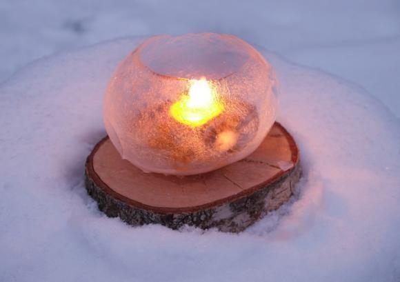 Licht aus Eis! Tolle Idee!