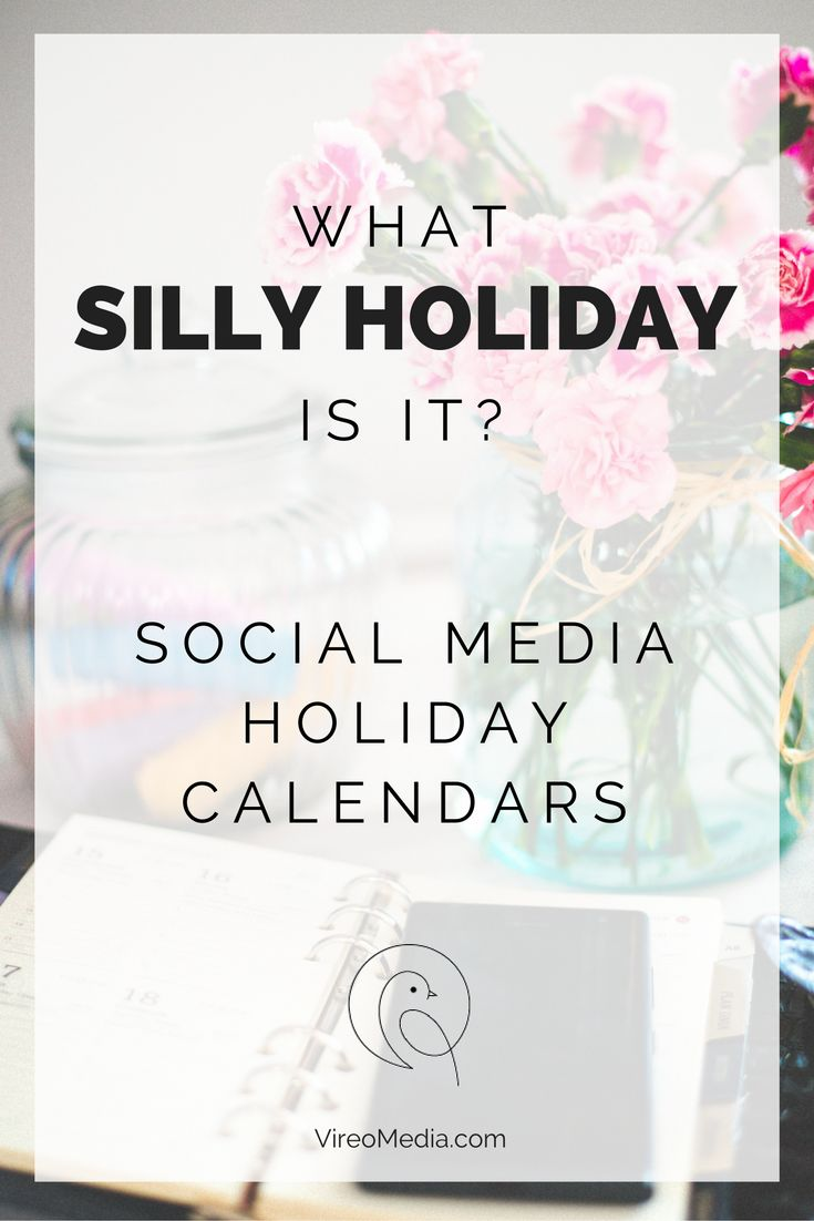 What Silly Holiday Is It Today Social Media Marketing Social