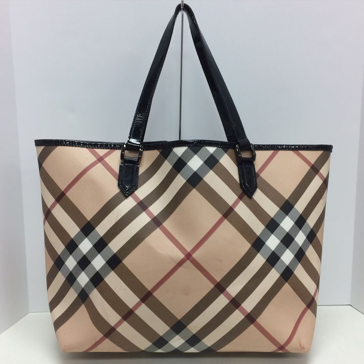 Authentic large Burberry Nova Check tote. Does has some stains.