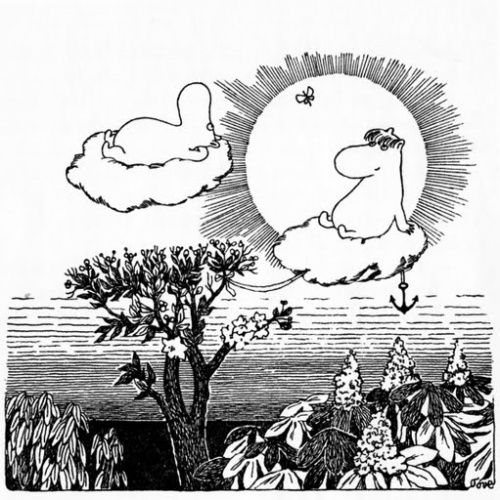 moomins dreaming in the clouds , wish i could do the same Tove Jansson
