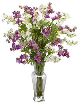 Nearly Natural Dancing Daisy Silk Flower Arrangement in Assorted - traditional - Artificial Flowers - Beyond Stores