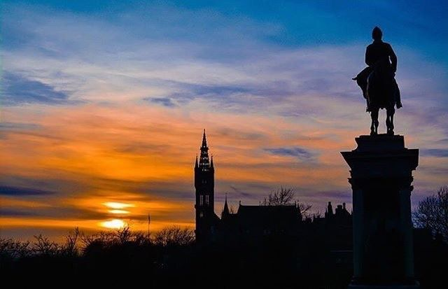 From our friends at Glasgow  @uofglasgow - What an amazing sunset over UofG captured by @markcole90  #UofGSpring #sunset #UofG #UniversityofGlasgow #GlasgowUni #Glasgow #Scotland #University #Campus #UofGlasgow #goviewyou