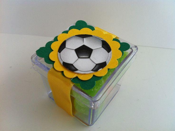 caixa de acrílico Brasil Futebol