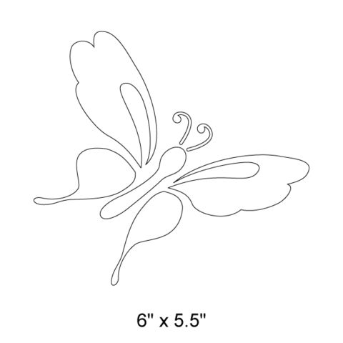 Butterfly Stencil for Girls Room Wall Mural in Flower Garden Room