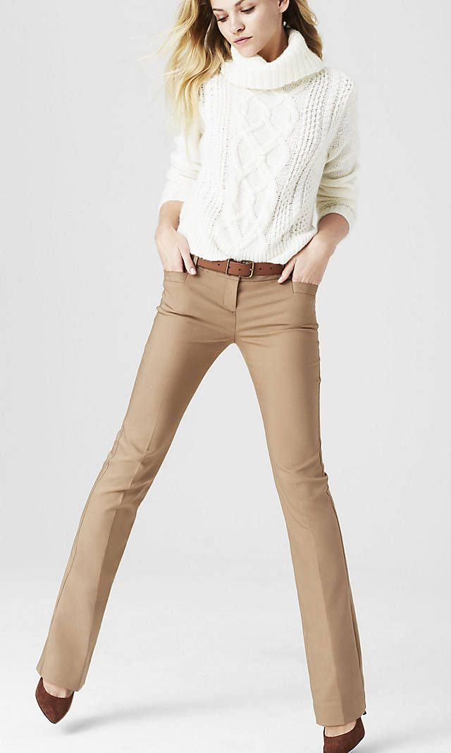 Camel Studio Stretch Barely Boot Editor Pant | Express