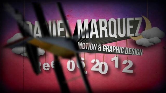 This is my 2012 motion graphic design demo reel. I'm a Motion and Graphic designer located in Los Angeles, CA. daniel@danielmarquez.comSoftware used:Adobe After EffectsAdobe PhotoshopAdobe IllustratorMaxon Cinema4D