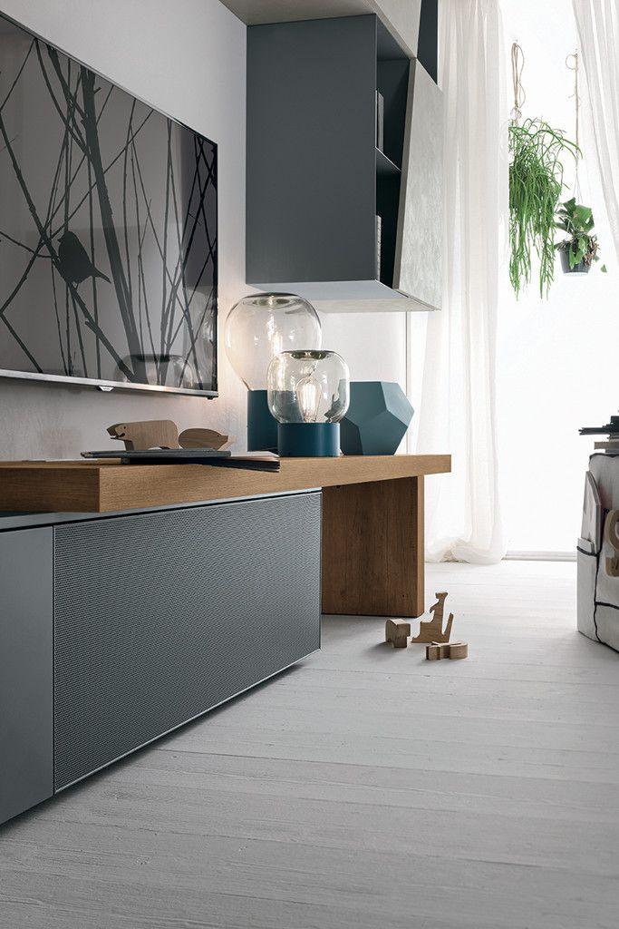 Composizione soggiorno a064 finiture disponibili for Composizione soggiorno moderno