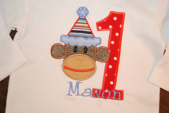 Boutique Custom Sock MONKEY Applique by CarlieAnnaBoutique on Etsy, $20.00