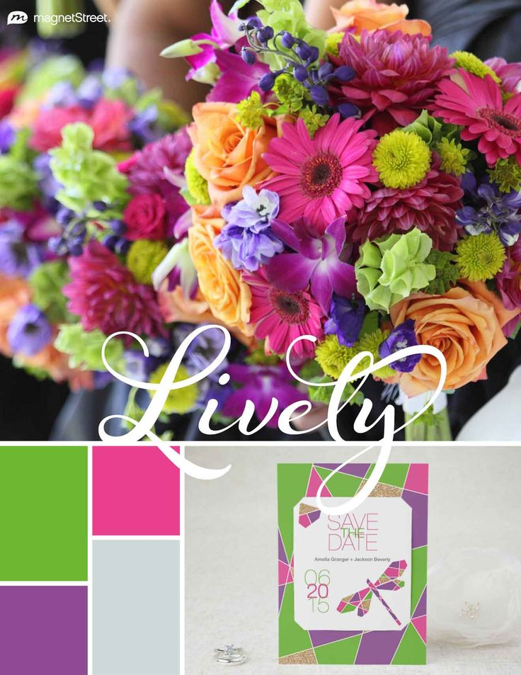 Kiwi, Azalea, Plumeria, and Silver Spring Wedding Color Palette | Wedding Color Trends | MagnetStreet Weddings