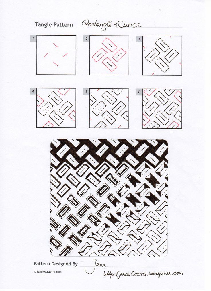 Rectangle Dance~Zentangle