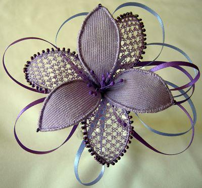 Needle lace flower