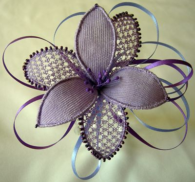 Needle lace flower