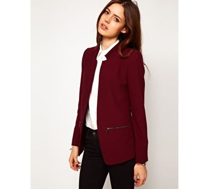 Bordowa marynarka boyfriend ASOS - maroon blazer autumn winter 2013/2014