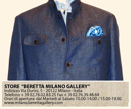 Novità alla Beretta Gallery di Milano: SCHNEIDER SALZBURG giacca di Lino uomo 4 tasche @ Beretta Milano Gallery - via Durini 5. info 02.76.02.83.25