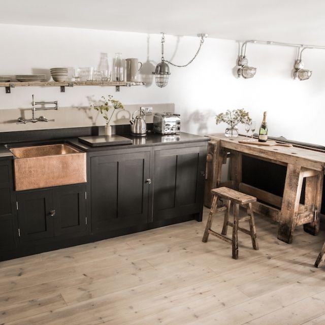 die besten 25 vintage k chendekoration ideen auf. Black Bedroom Furniture Sets. Home Design Ideas