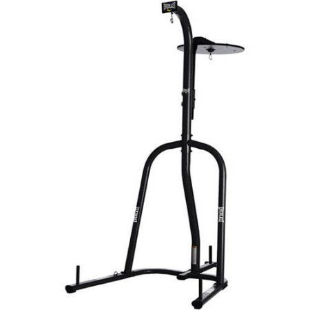 Everlast Dual-Station Heavy Bag Stand, Black