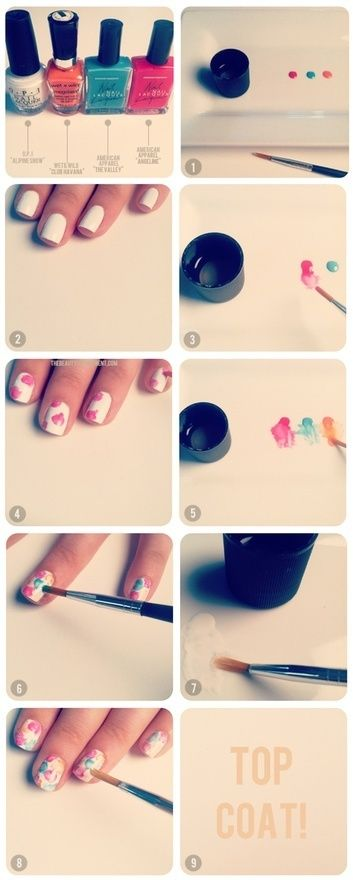 acuarela arte uñas