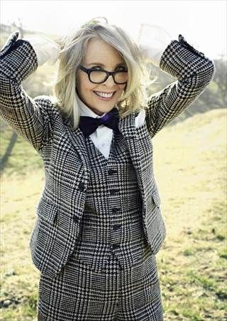 Even with longer tresses, Diane Keaton stays with the gray for More magazine.