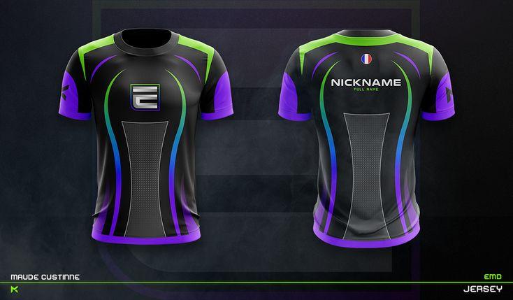 Download Jersey Esport Team Mockup On Behance Sport Shirt Design Sports Tshirt Designs Sports Jersey Design