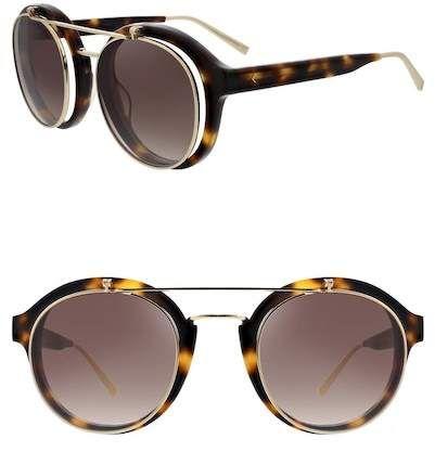 f8122cc2f98 Kendall   Kylie Women s Raquel Retro Flip Up Round Sunglasses