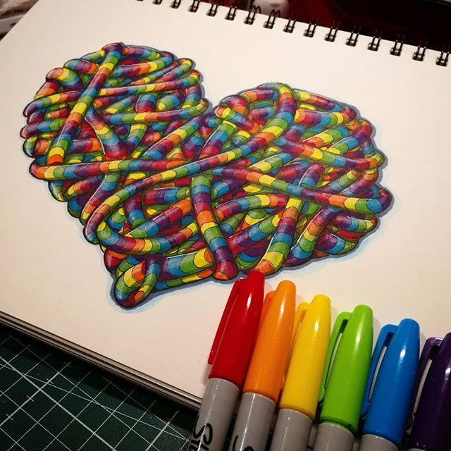 this is one of my favorite things to draw zendoodle rainbow tangles very meditative to draw color shade and rainbow drawing rainbow art zentangle drawings rainbow drawing rainbow art