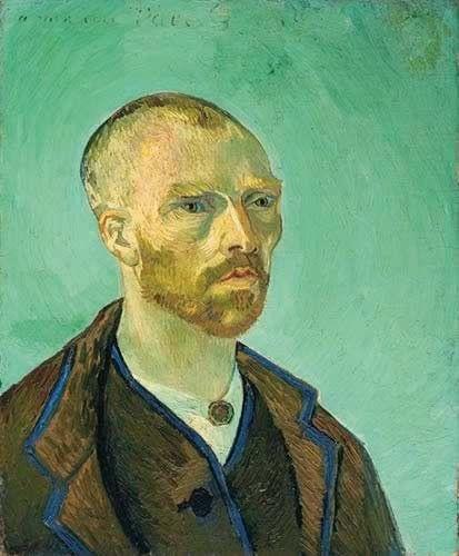 Vincent van Gogh, Self-Portrait Dedicated to Paul Gauguin (Bonze), 1888, Fogg Art Museum