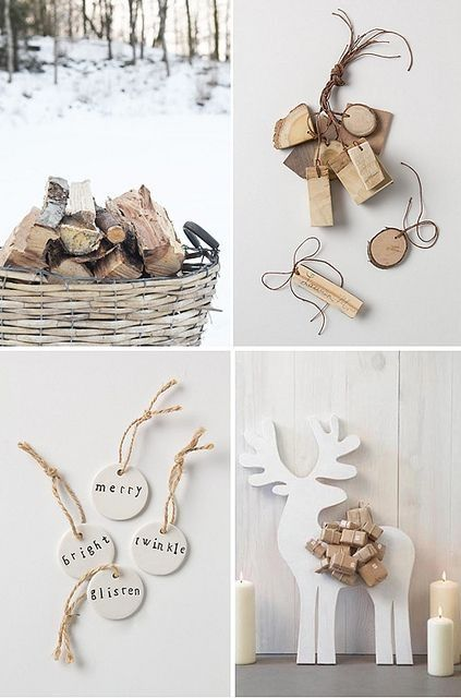 Natural Christmas - lovely ceramic tree decorations