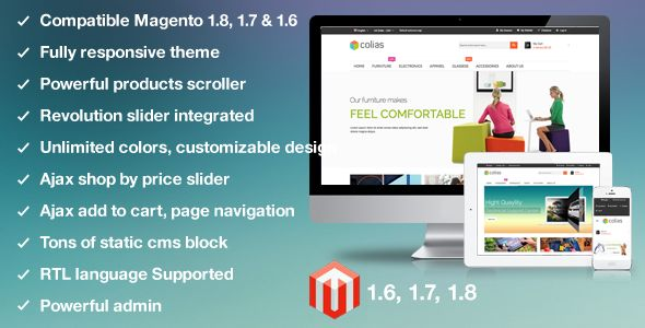 Download Free              MT Colias Premium Responsvie Magento Theme            #               fashion theme #furniture theme #jewelry theme #magent…