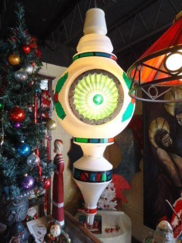 A Large Vintage Blow Mold Municipal Street Pole Christmas
