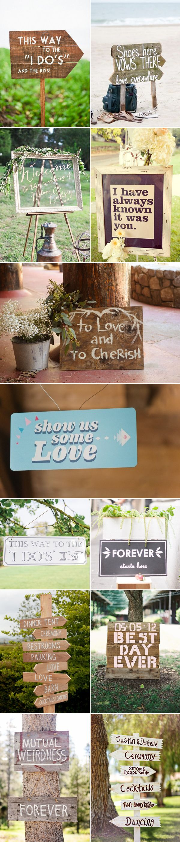 Spell Out Your Love! 46 Fun Wedding Signs