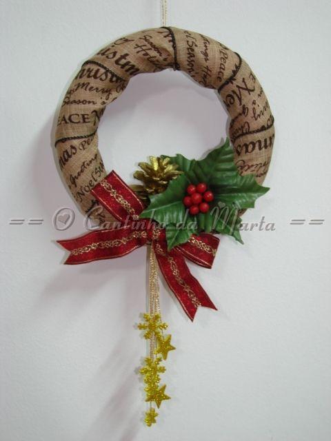 O Cantinho da Marta: Coroa de Natal - Boas Festas